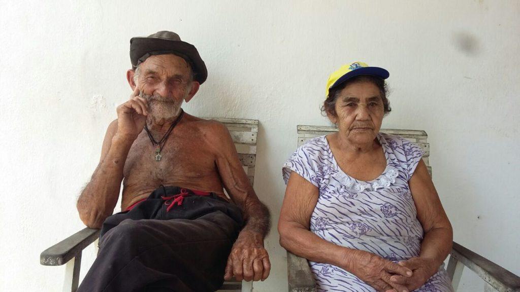 Casal Dona Maria Ferreira da Silva e o Senhor Cícero Rodrigues de Lima – Chico (foto: RC)