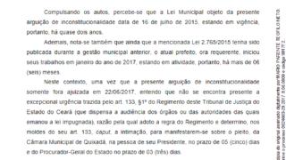 a190ba22571b1 Tribunal de Justiça do Ceará julgará se lei do Concurso de Quixadá é  inconstitucional